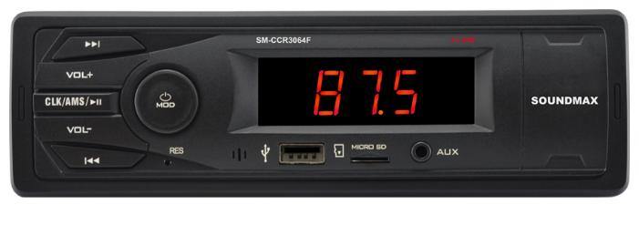 Автомагнитола SoundMAX SM-CCR3064F, черный фото 1