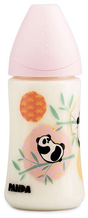 Suavinex Бутылочка полипропиленовая антиколиковая с анатомической силиконовой соской 270 мл Панда с