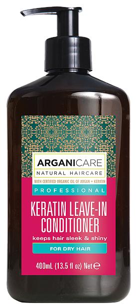 ARGANICARE Argan Oil & Keratin Несмываемый кондиционер для волос с кератином для сухих волос