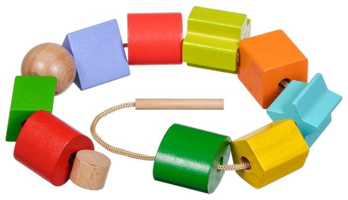 Шнуровка Мир деревянных игрушек Геометрия (Д389)