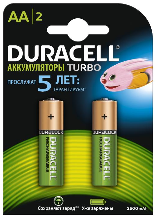Аккумулятор Ni-Mh 2500 мА·ч Duracell Turbo AA/HR6