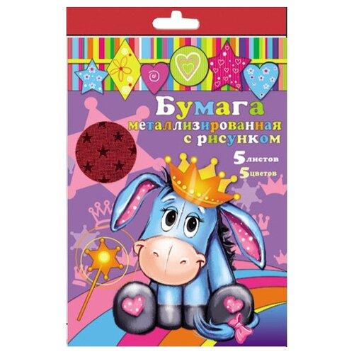 Купить Цветная бумага 24401 Феникс+, A4, 5 л., 5 цв., Цветная бумага и картон