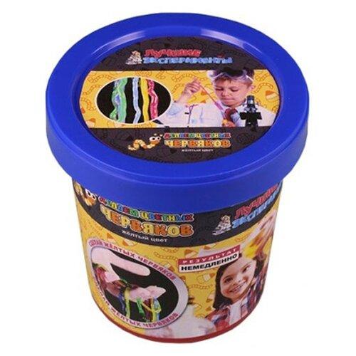 Купить Набор Qiddycome Делаем цветных червяков желтый, Наборы для исследований