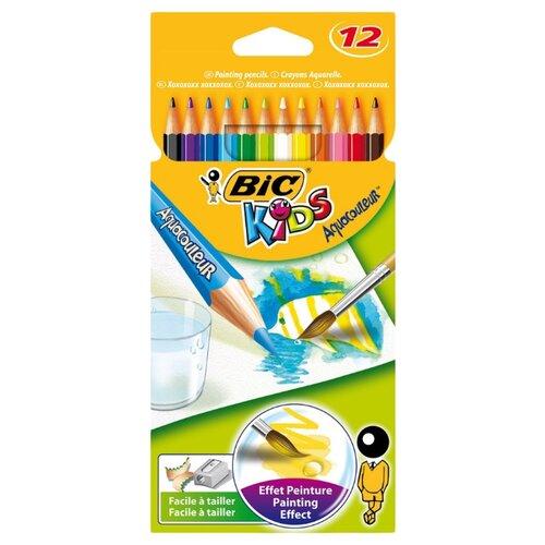 Купить BIC Акварельные карандаши Aquacouleur 12 цветов (8575613), Цветные карандаши