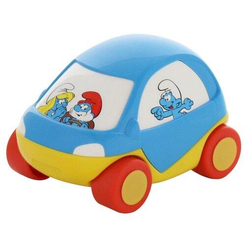 Купить Машинка Полесье Смурфики №3 (64523) 13.5 см голубой/желтый, Машинки и техника