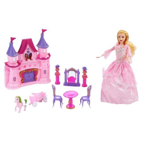 Купить Dolly Toy кукольный домик Розовые мечты DOL0803-005, розовый/фиолетовый, Кукольные домики