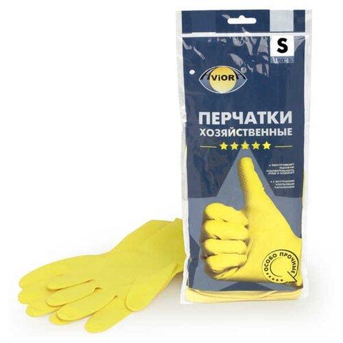 Перчатки Aviora хозяйственные 5 звезд, 1 пара, размер S, цвет желтыйПерчатки<br>