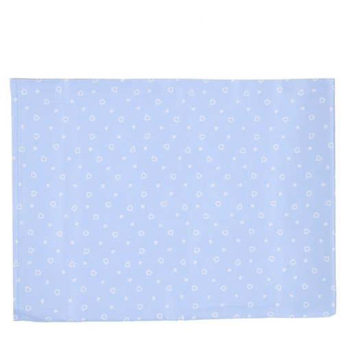 Купить Sonia Kids простыня 110х150 см Сердечки голубой, Постельное белье и комплекты