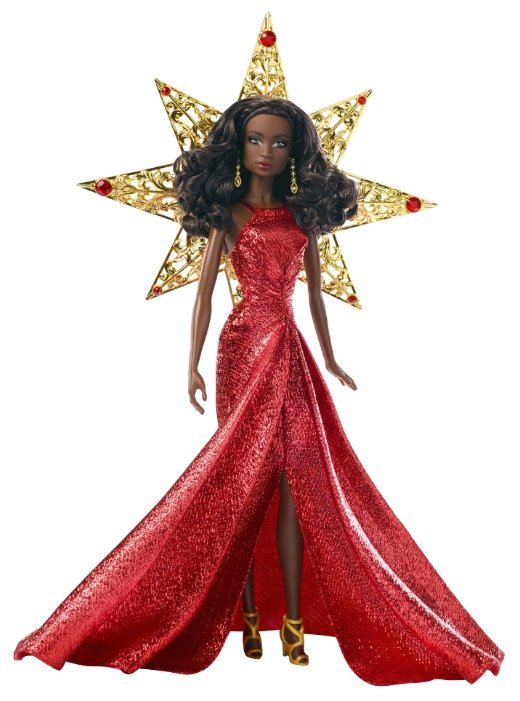 Кукла Barbie Праздничная 2017 Афроамериканка, 29 см, DYX40