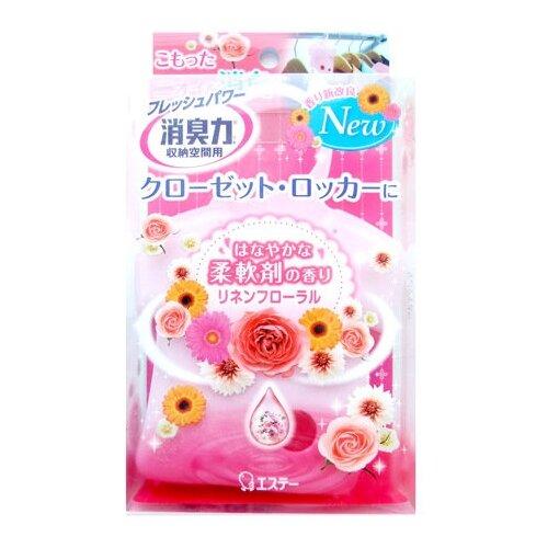 Shoshu-Riki Освежитель воздуха для шкафов на основе желе-сенсора с цветочным ароматом 32 г