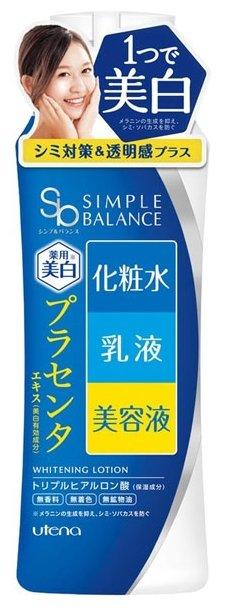 Utena Лосьон увлажняющий Simple Balance 3в1 с гиалуроновой кислотой с эффектом выравнивания цвета кожи