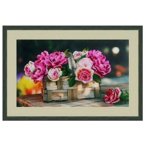 Купить Galla Collection Набор для вышивания бисером Розы в корзинке 39 х 24 см (Л333), Наборы для вышивания