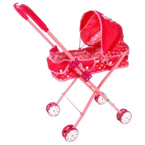 Купить Коляска-люлька Карапуз Принцессы (PRS-02-M) красный, Коляски для кукол