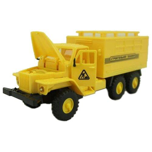 Купить Грузовик ABtoys со световыми и звуковыми эффектами (M7711-2E) желтый/черный, Машинки и техника