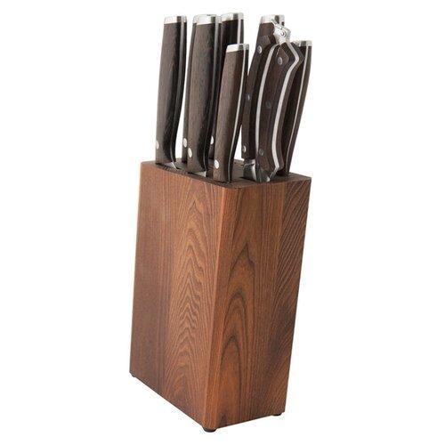 Набор BergHOFF Essentials 7 ножей, ножницы и подставка коричневыйНаборы ножей<br>