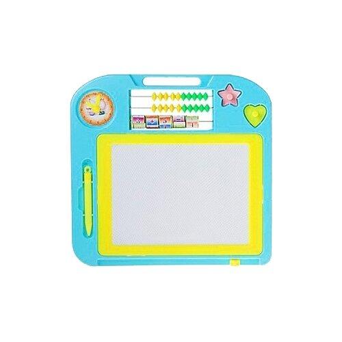 цена Доска для рисования детская Junfa toys со счетами (2118) голубой/желтый онлайн в 2017 году