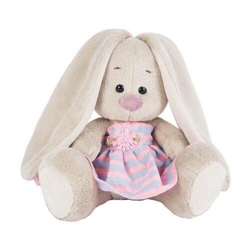 Мягкая игрушка Зайка Ми в платье в полоску 15 см