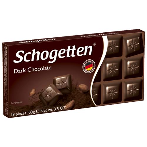 Шоколад Schogetten Dark темный порционный, 100 г