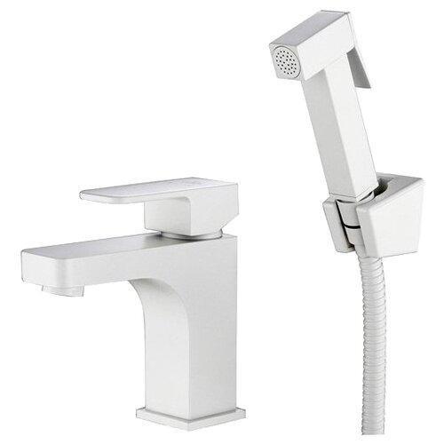 Фото - Смеситель для раковины (умывальника) KAISER Sonat 34088-4 white однорычажный лейка в комплекте белый смеситель для раковины kaiser sonat 34088 4 с гигиеническим душем белый