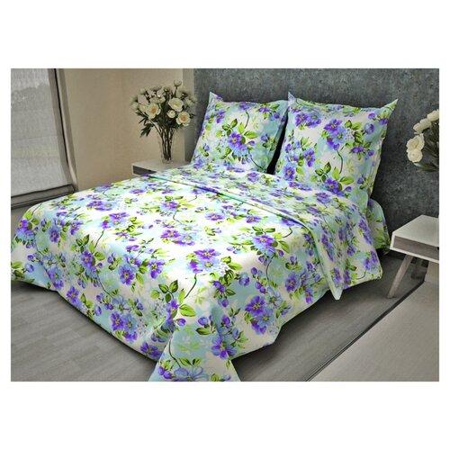 Постельное белье 2-спальное Fiorelly Яблоневый цвет голубой 086-4 бязь