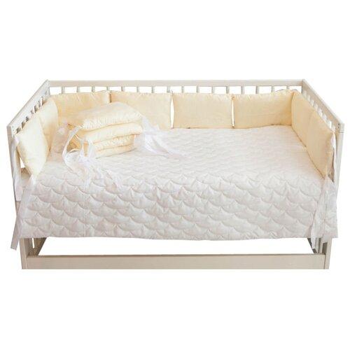 Body Pillow бортик в кроватку однотонный бежевыйПостельное белье и комплекты<br>