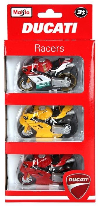 Набор техники Maisto Ducati Racers (12173) 1:18 7.5 см