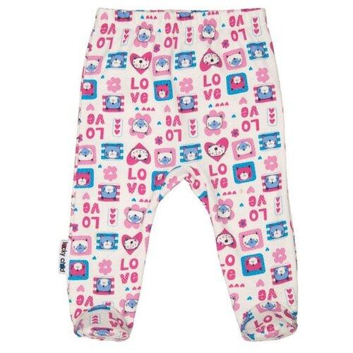 Ползунки lucky child размер 18, молочный;розовый;бирюзовыйПолзунки<br>