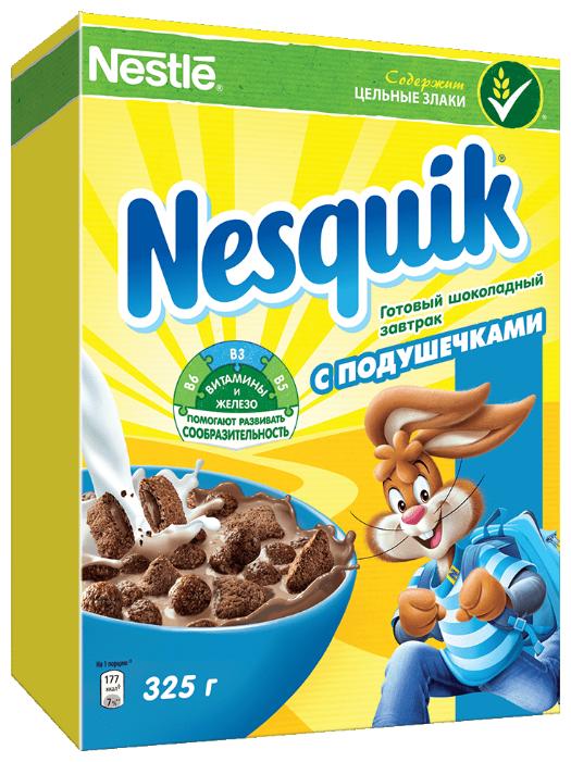 Готовый завтрак Nesquik Шоколадный с подушечками 325г