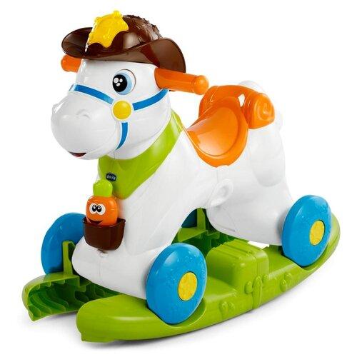 Купить Каталка-качалка Chicco Baby Rodeo (79070) со звуковыми эффектами белый/зеленый/оранжевый/голубой, Каталки и качалки