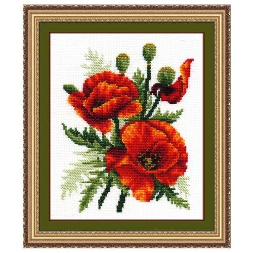 Купить Сделай своими руками Набор для вышивания крестиком Огненные маки 15 x 21 см (О-06), Наборы для вышивания