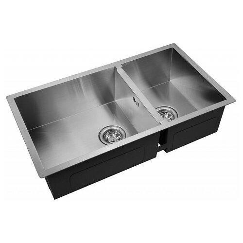Врезная кухонная мойка 78 см ZorG INOX X-78-2-44 нержавеющая сталь матовая