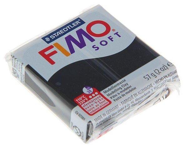 Полимерная глина FIMO Soft запекаемая черный (8020-9), 57 г