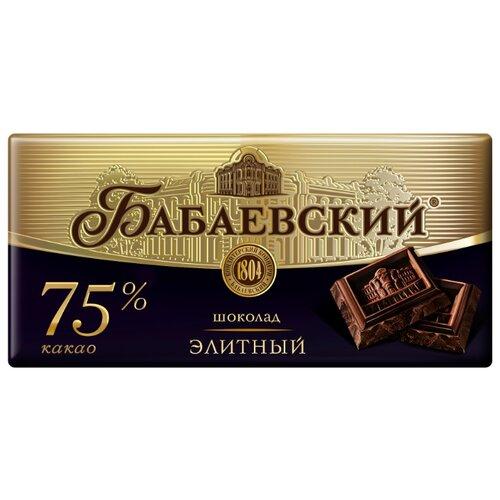 Шоколад Бабаевский элитный горький, 75% какао, 100 г шоколад cachet bio organic элитный бельгийский горький 85% какао танзания 100 г