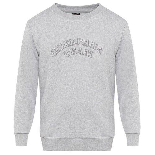 Свитшот Sberbank Team мужской размер 48, серый меланжОдежда и аксессуары<br>