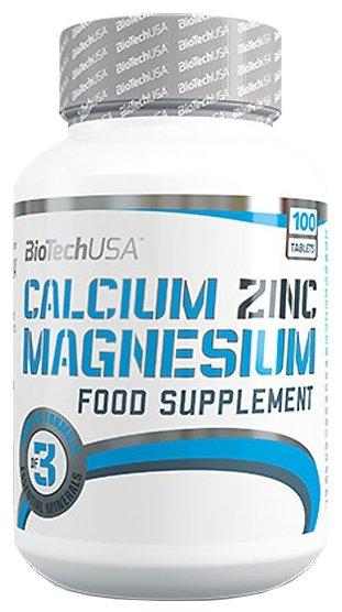 Мультиминералы BioTech Calcium Zinc Magnesium (100 таблеток)