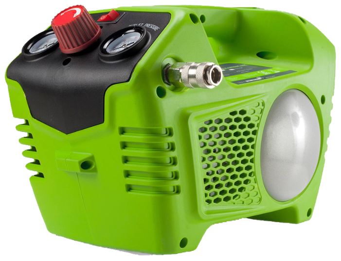 Компрессор безмасляный greenworks G24AC, 2 л, 0.48 кВт