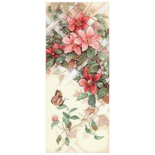 Купить Dimensions Набор для вышивания крестиком Бабочка и клематис 18 х 41 см (13686), Наборы для вышивания