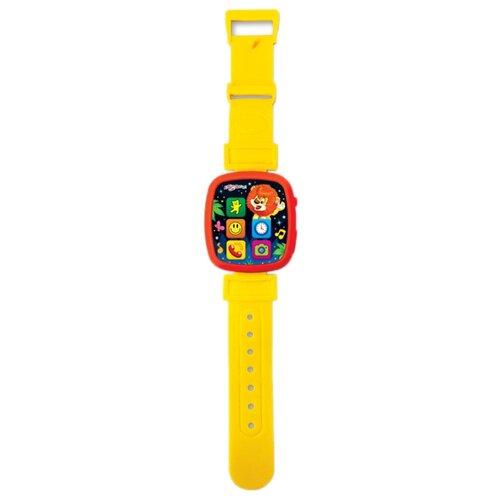 Интерактивная развивающая игрушка Азбукварик Чудо-часики Мой львёнок желтый азбукварик часики азбукварик мой львенок