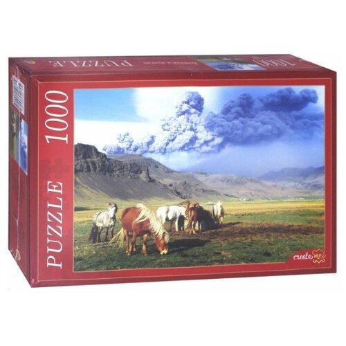 Фото - Пазл Рыжий кот Лошади и вулкан (КБ1000-6917), 1000 дет. пазл рыжий кот konigspuzzle россия йошкар ола гик1000 6534 1000 дет