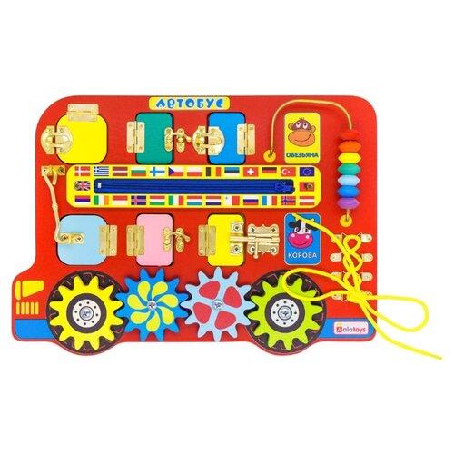 Бизиборд Alatoys Автобус разноцветный бизиборд алатойс автобус