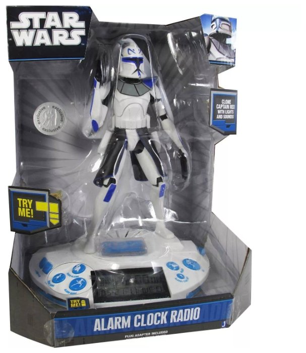 Радиобудильник Jazwares Star Wars - Clone Captain Rex Alarm Clock