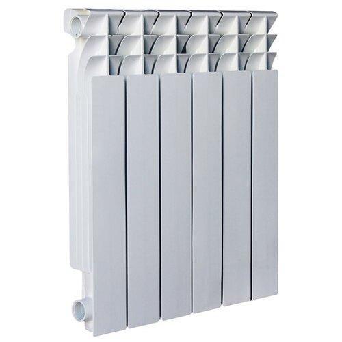 Радиатор секционный алюминий Oasis Al 500/80 x6 теплоотдача 1140 Вт, 6 секций, подключение боковое правое RAL 9016 oasis мастер 42 предмета 5346