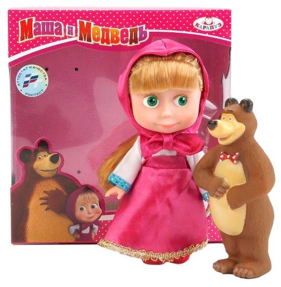 Интерактивная кукла Карапуз Маша и Медведь Маша с мишкой, 15 см, 83031X (24)