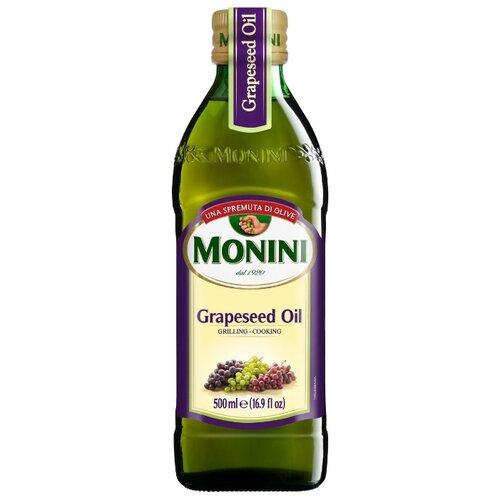 Monini Масло виноградных косточек Grapeseed, стеклянная бутылка 0.5 лМасло растительное<br>