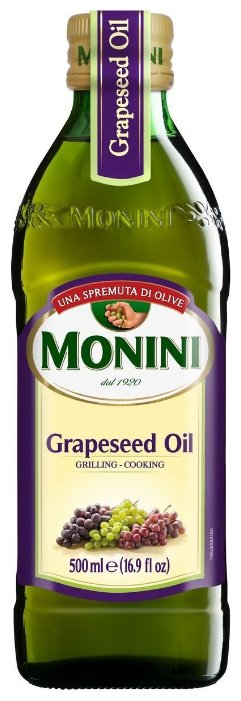 Monini Масло виноградных косточек Grapeseed, стеклянная бутылка 0.5 л