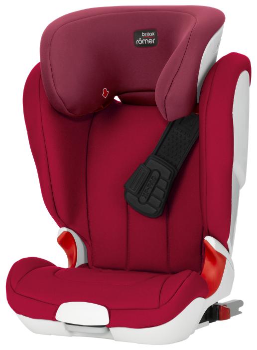 Автокресло группа 2/3 (15-36 кг) BRITAX ROMER Kidfix XP Isofix Flame Red