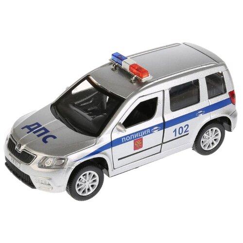 Купить Легковой автомобиль ТЕХНОПАРК Skoda Yeti Полиция (YETI-P-SL) 12 см серый/синий, Машинки и техника