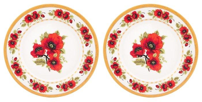 Elan gallery Набор тарелок для закуски Маки 20,5 см, 2 шт