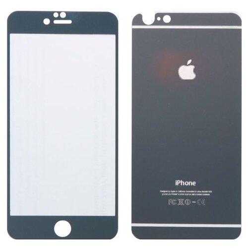 Защитное стекло CaseGuru зеркальное Front & Back для Apple iPhone 4/4S Logo greyЗащитные пленки и стекла<br>