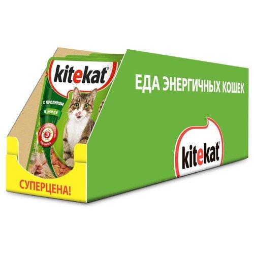 Влажный корм для кошек Kitekat с кроликом 24шт. х 85 г (кусочки в желе)